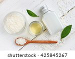 coconut cosmetic products.... | Shutterstock . vector #425845267
