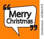 merry christmas lettering... | Shutterstock .eps vector #425861473