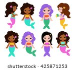 vector illustration of a cute... | Shutterstock .eps vector #425871253