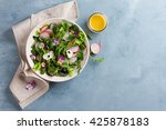 spring salad with radishes ...   Shutterstock . vector #425878183