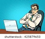 good businessman at laptop | Shutterstock . vector #425879653