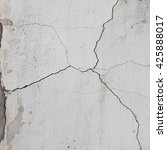 cracked white cement wall...   Shutterstock . vector #425888017