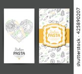 vector business cards with... | Shutterstock .eps vector #425890207