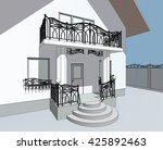 3d illustration  fence | Shutterstock . vector #425892463