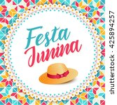 festa junina illustration  ... | Shutterstock .eps vector #425894257