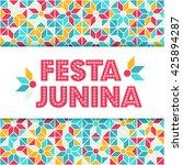 festa junina illustration  ... | Shutterstock .eps vector #425894287