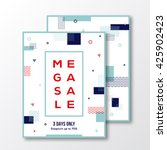 season mega sale poster  card... | Shutterstock .eps vector #425902423