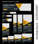 vector web banners templates | Shutterstock .eps vector #425910487
