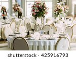 luxury white restaurant is... | Shutterstock . vector #425916793