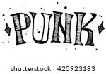 punk label design for t shirts ... | Shutterstock .eps vector #425923183