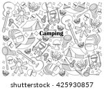 camping design colorless set... | Shutterstock .eps vector #425930857