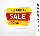 ecommerce bright vector banner. ...   Shutterstock .eps vector #425934247