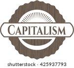 capitalism wooden signboards | Shutterstock .eps vector #425937793