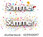 summer paper banners set with... | Shutterstock .eps vector #425943097