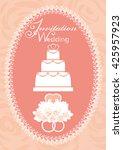 wedding invitation with... | Shutterstock .eps vector #425957923