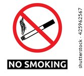 no smoking sign | Shutterstock .eps vector #425962567