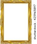 gold photo frame with corner... | Shutterstock .eps vector #425965897