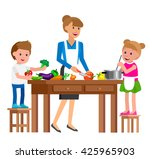 cute vector character and... | Shutterstock .eps vector #425965903