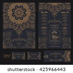 menu restaurant design... | Shutterstock .eps vector #425966443