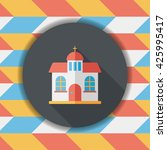 building church flat icon with... | Shutterstock .eps vector #425995417
