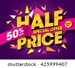 half price sale concept with... | Shutterstock .eps vector #425999407