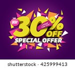 special offer sale concept with ... | Shutterstock .eps vector #425999413