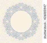 vintage round ornate frame.... | Shutterstock .eps vector #426003547