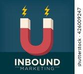 inbound marketing magnet... | Shutterstock .eps vector #426009247