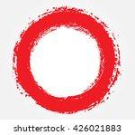 grunge circle.grunge round... | Shutterstock .eps vector #426021883