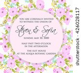 invitation or wedding card with ... | Shutterstock .eps vector #426028117