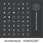 arrow sign icon set on clean... | Shutterstock .eps vector #426032287