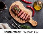 grilled striploin sliced steak... | Shutterstock . vector #426034117