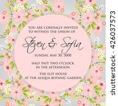 invitation or wedding card with ... | Shutterstock .eps vector #426037573
