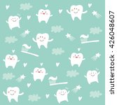 cartoon teeth | Shutterstock .eps vector #426048607