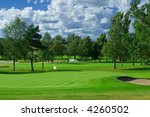 Golf course in Sweden - stock photo
