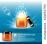 sun protection for skin care ... | Shutterstock .eps vector #426051793