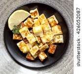 grilled halloumi cheese cubes... | Shutterstock . vector #426052087