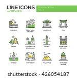 modern vector line design icons ... | Shutterstock .eps vector #426054187