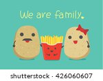 potato family include father... | Shutterstock .eps vector #426060607