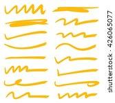 underline stroke set  hand... | Shutterstock .eps vector #426065077