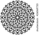 mandala for painting. vector... | Shutterstock .eps vector #426069733