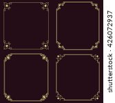 set of vector thin vintage gold ... | Shutterstock .eps vector #426072937