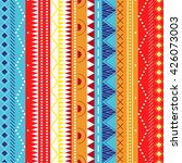 colorful ethnic patterns.... | Shutterstock .eps vector #426073003