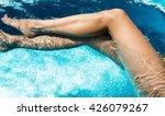 beautiful woman legs in... | Shutterstock . vector #426079267
