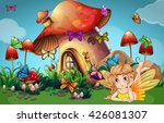 fairy and butterflies at... | Shutterstock .eps vector #426081307