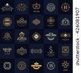 line graphics monogram. vintage ... | Shutterstock .eps vector #426081907