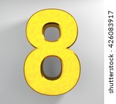 number 8 gold color collection...   Shutterstock . vector #426083917