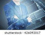 double exposure of professional ... | Shutterstock . vector #426092017