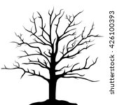 simple drawing tree silhouette  ... | Shutterstock .eps vector #426100393