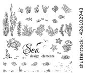 vector set of underwater marine ... | Shutterstock .eps vector #426102943
